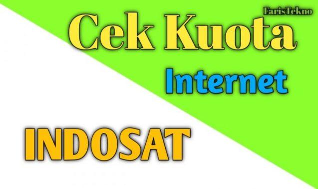 cara mengecek kuiota internet indosat