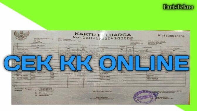 Cara cek KK online